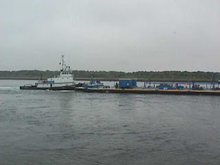 Barge on Cape Cod Canal