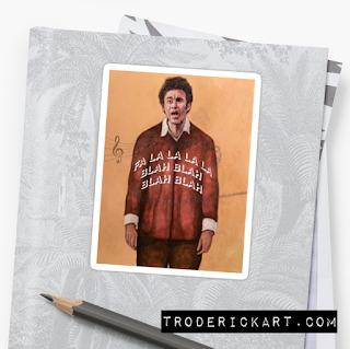 Cosmo Kramer Christmas Sticker