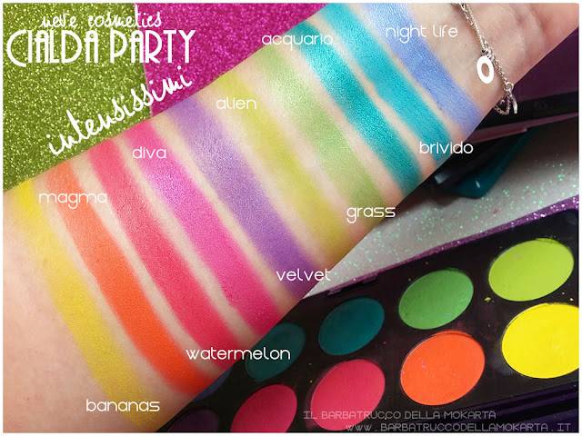 intensissimi swatches neve cosmetics cialda party review recensione makeup