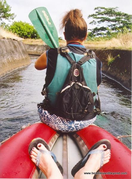 relaxing on the Kauai Backcountry Tubing Adventure