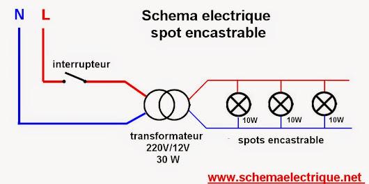 comment installer spot encastrable led sch ma electrique spot electrique bra. Black Bedroom Furniture Sets. Home Design Ideas