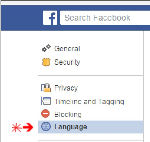 facebook language changed automatically