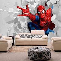 Vinilos de super héroes para decorar la habitación de los niños SPIDER MAN