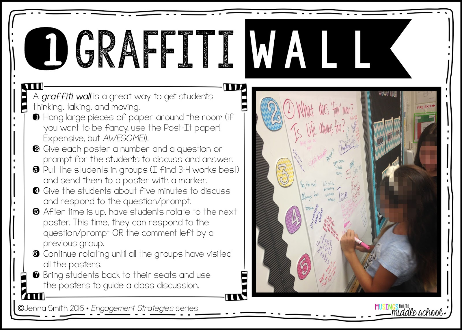 Musings From The Middle School The Graffiti Wall