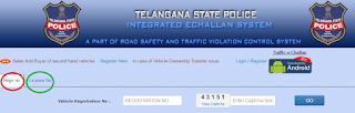 Telangana Traffic E Challan Status Checking Option
