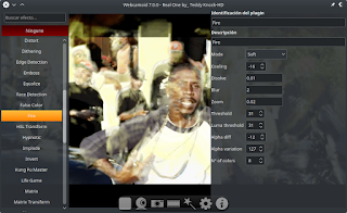 Applying effects in real-time to a video