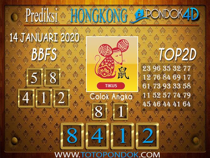 Prediksi Togel HONGKONG PONDOK4D 14  JANUARI 2020