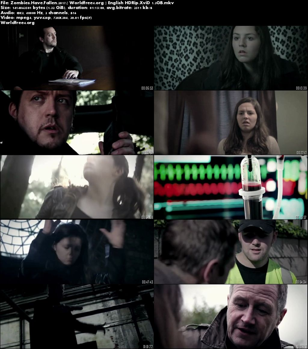 Zombies Have Fallen 2017 HDRip 720p English Download 1.3Gb