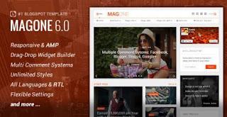 MagOne Lite 6.0 - Responsive Blogspot Platform Free Download
