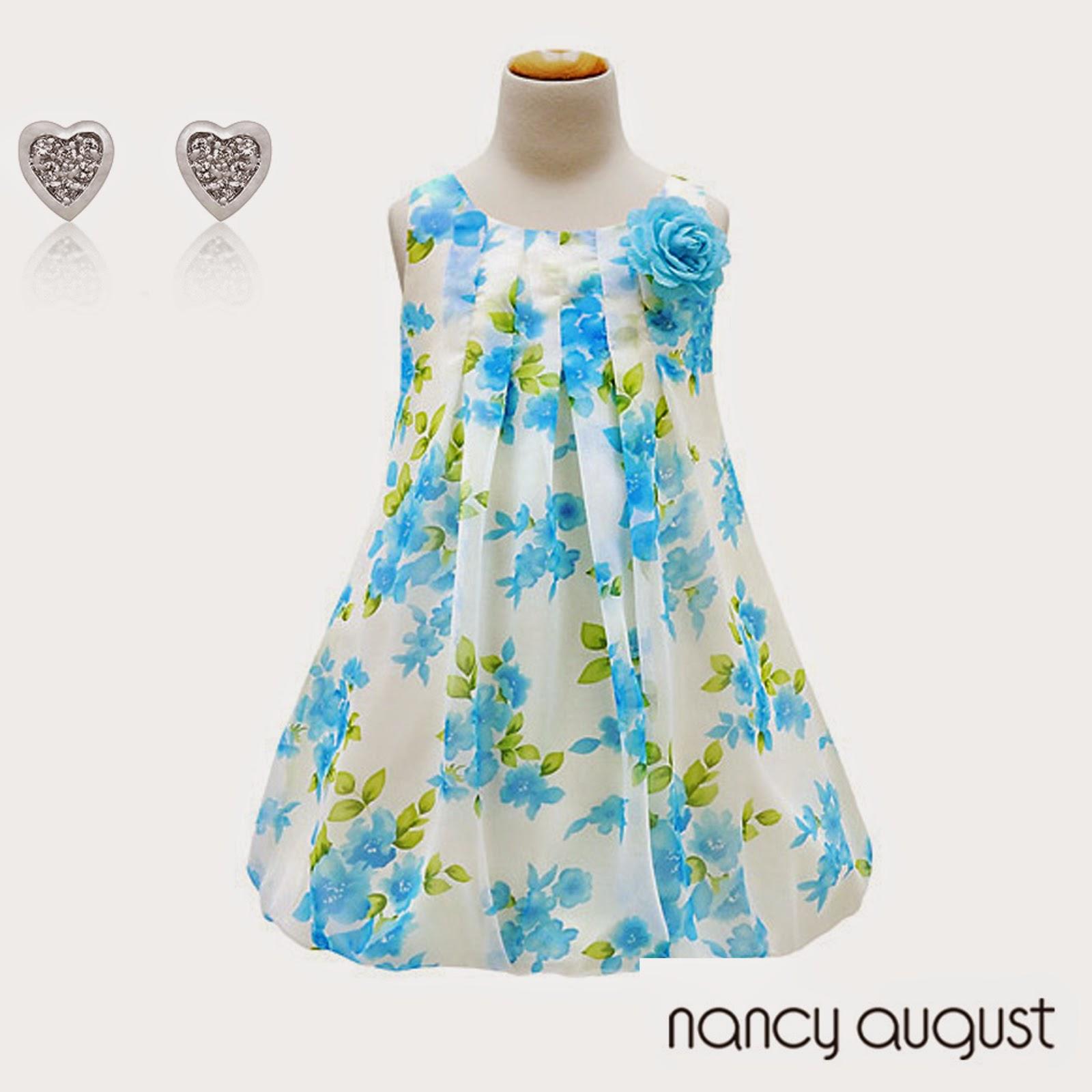 fe50ace68 Nancy August s Turquoise Blue Floral Bubble Dress