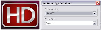 Select Youtube High Definition Video Quality and Video Size