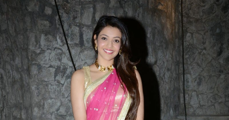 Kajal Aggarwal Gorgeous Pics In Pink Saree