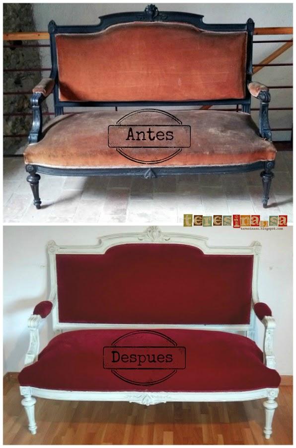 Antes y despues de un sofá
