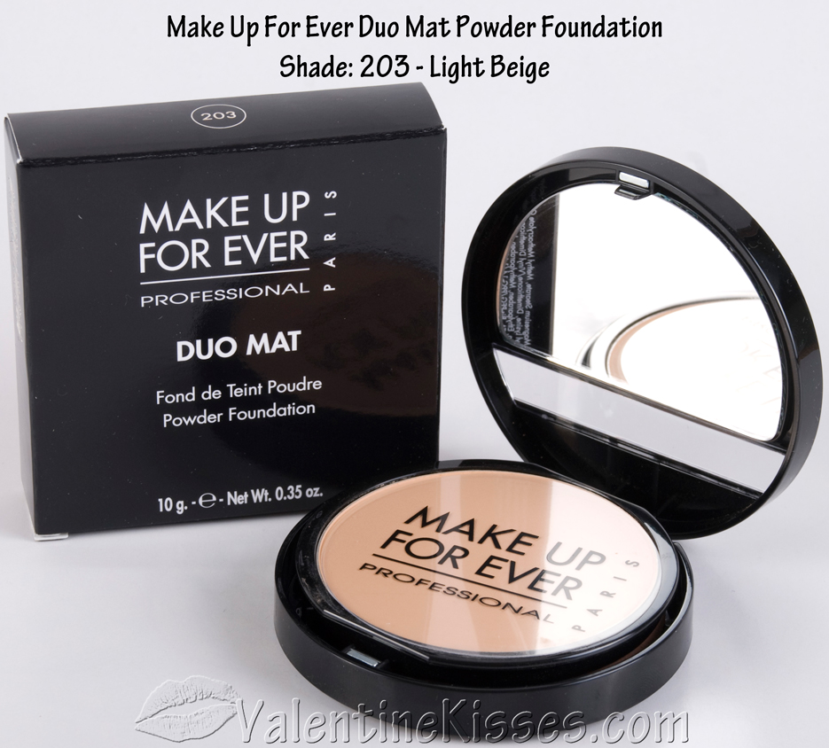 Valentine Kisses Make Up For Ever Duo Mat Powder