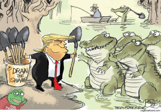 drain the swamp cartoon