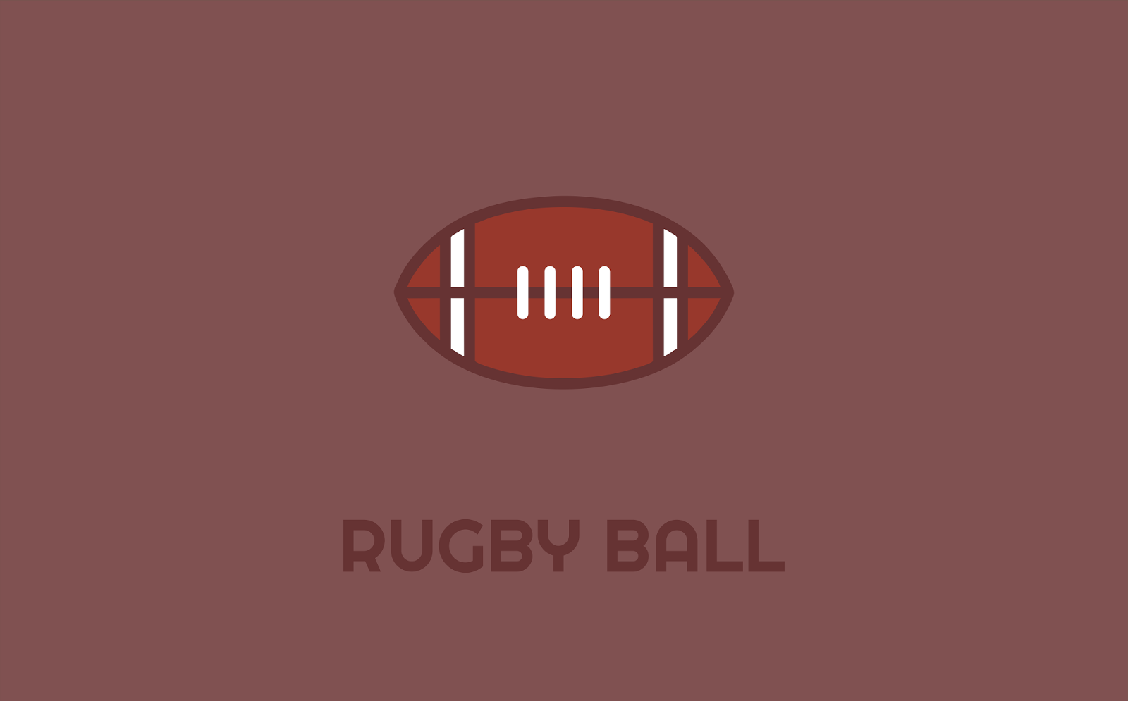 Rugby Ball Logo Idea