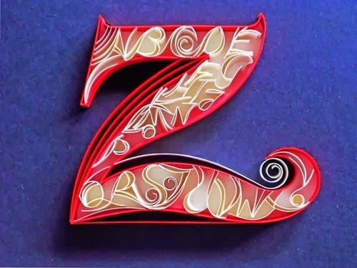 26-Z-Quilling-Illustrator-Typographer-Calligrapher-Paper-Sculptor-Sabeena-Karnik-Mumbai-India-Sculptures-A-to-Z-www-designstack-co
