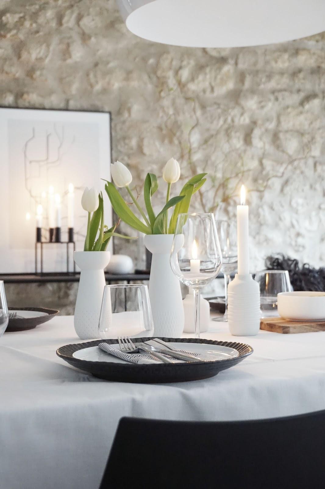 Simple Und Schick Tischdeko Schwarz Weiss S T I L R E I C H Blog