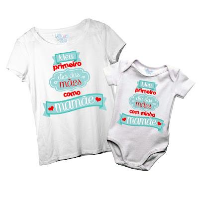 Camisetas comemorativas para o Primeiro dia das Mães da Mamãe e Bebê