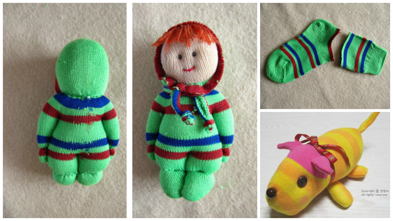 Aprende c mo hacer mu ecos infantiles reciclando - Hacer munecos con calcetines ...