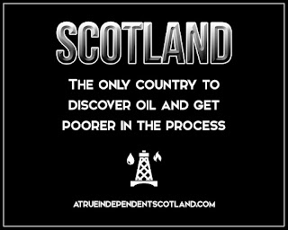Scotland: The only country in the world to have discovered oil and got poorer. #ScotRef #TheYESMovement