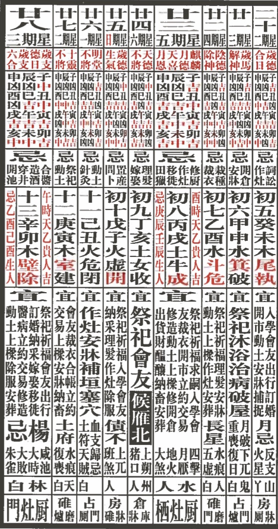 this is one in a never ending seriesfollowing the movements of the calendarin round and square perpetuity it is todays date in the chinese lunar solar