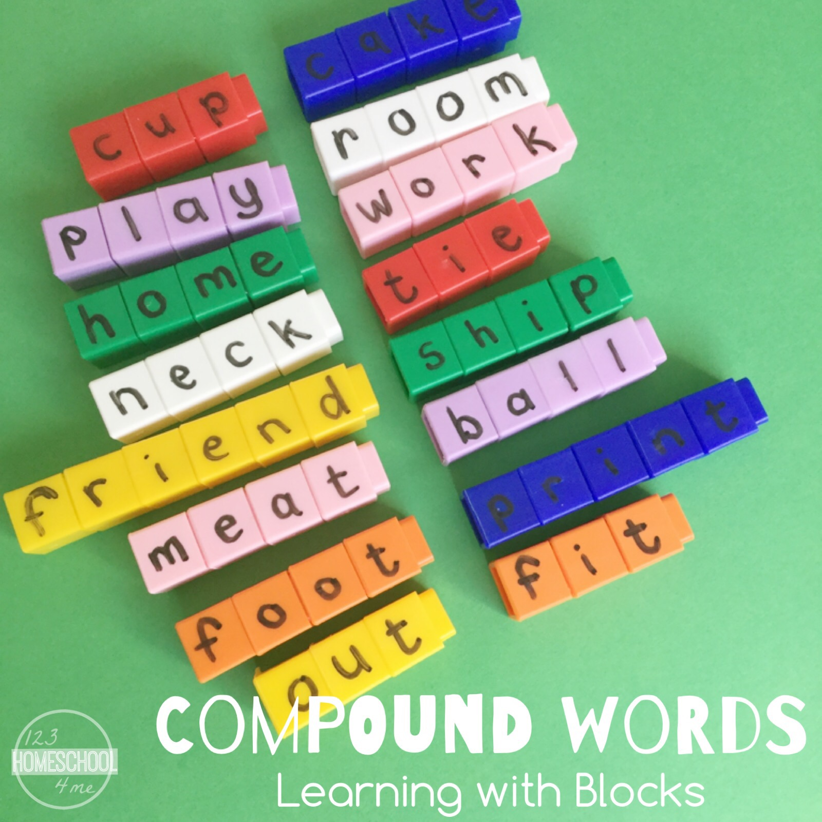 Learning Compound Words With Blocks
