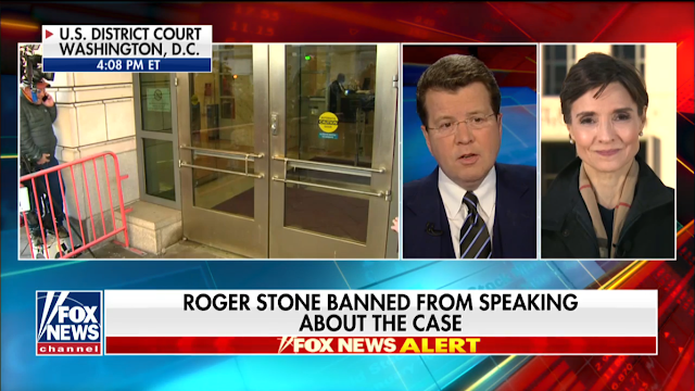 Roger Stone did not speak to the media as he left the courthouse with a new gag order banning him from speaking about his case publicly.