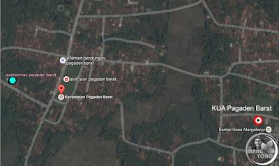 Google MAP : Puskesmas Kecamatan Pagaden Barat, Subang