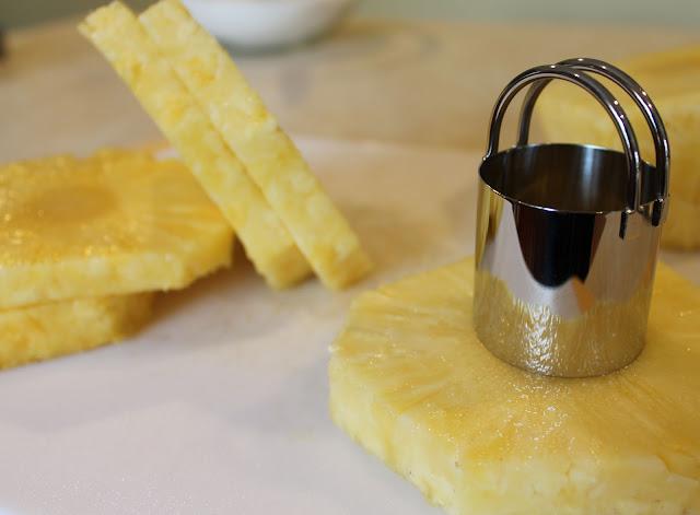Core Each Pineapple Slice