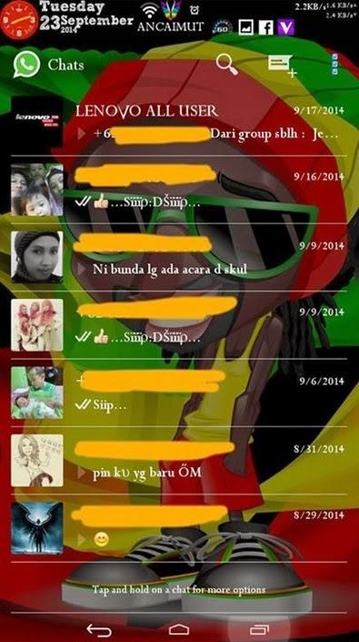 WhatsApp Mod Tema Transparan