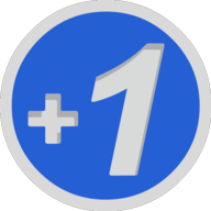 plusone button outline
