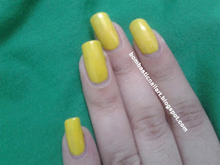 Yellow Black Striping Tape and Polka Dot Nail Art