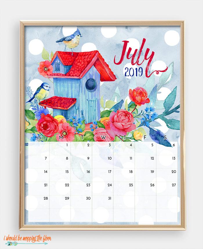 July Bird Calendar