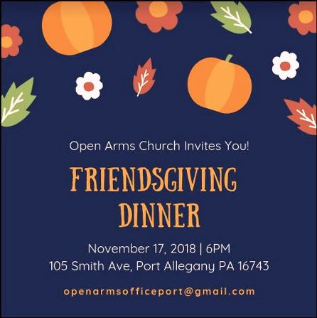 11-17 Friendsgiving Dinner, Port Allegany