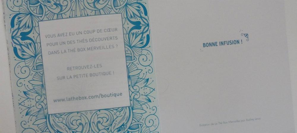 """Bilan de 3 mois d'abonnement à La Thé Box et la box """"Merveilles"""" Par Lili LaRochelle"""