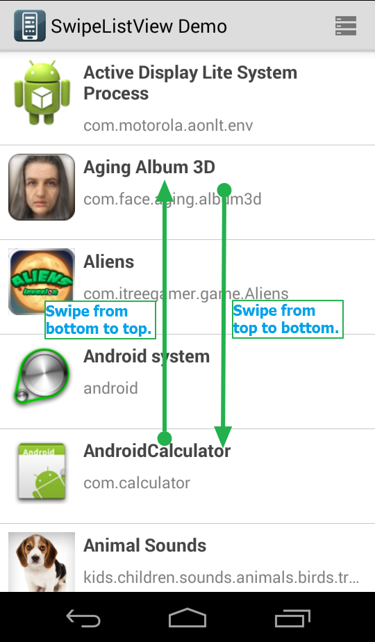 Appium - How To Swipe Vertical And Horizontal In Android Automation