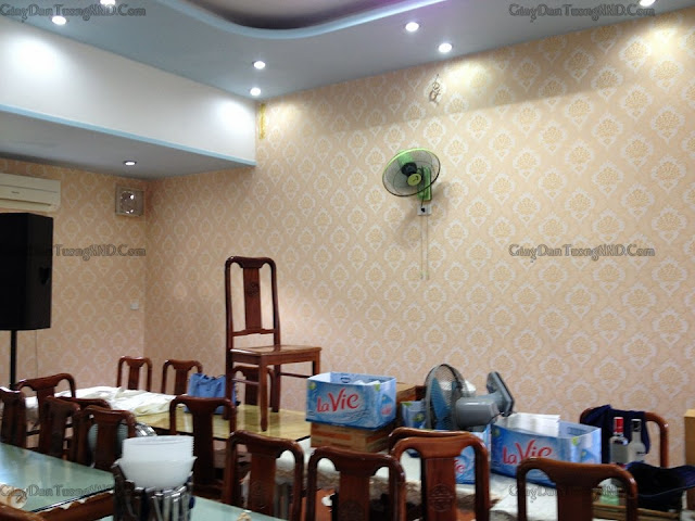 Quy trình sản xuất giấy dán tường được tiến hành theo 3 giai đoạn