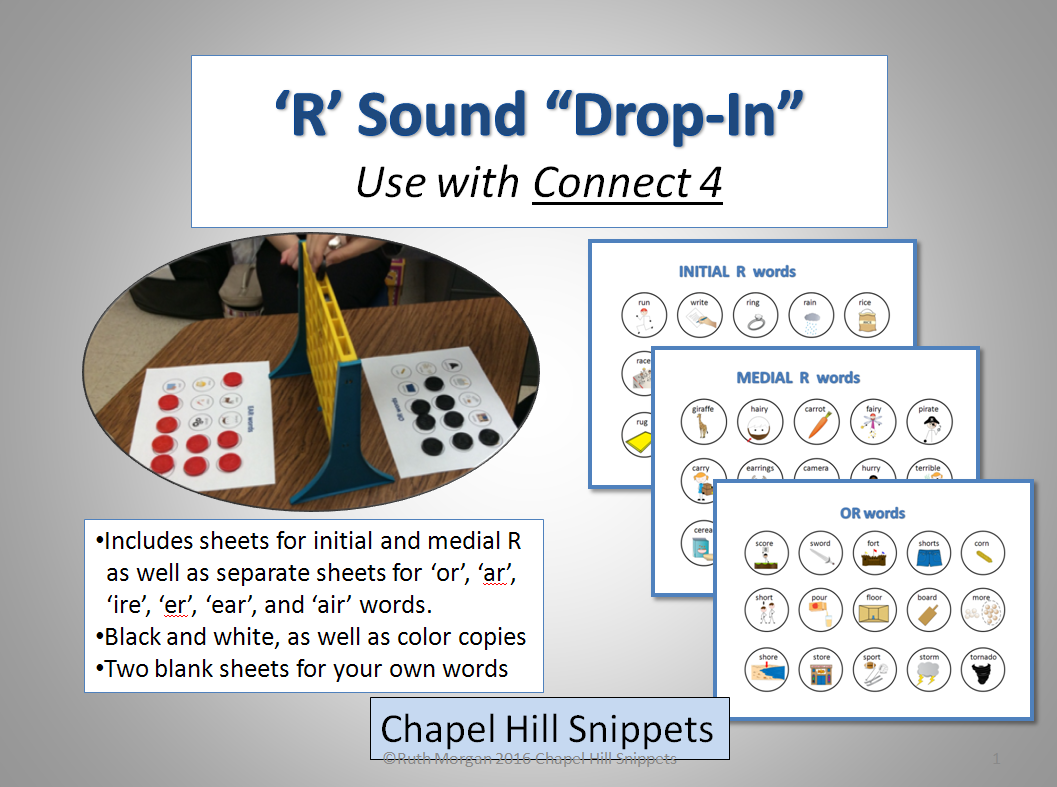 Chapel Hill Snippets Use Your Connect 4 Game During Articulation Therapy