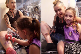 la niña mas joven del mundo tatuadora