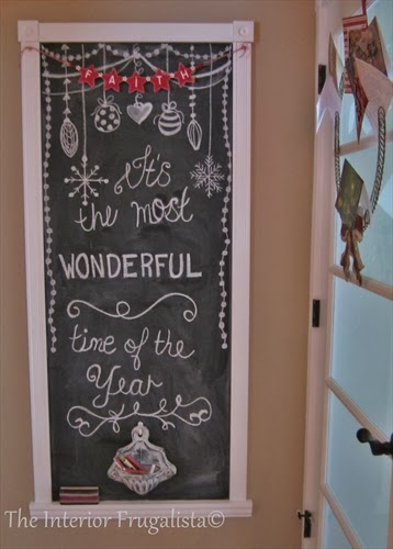 Chalkboard typography for the holidays