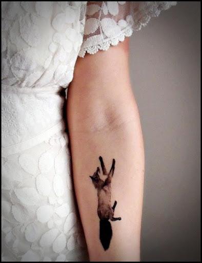Lindo Fox pequena tatuagem