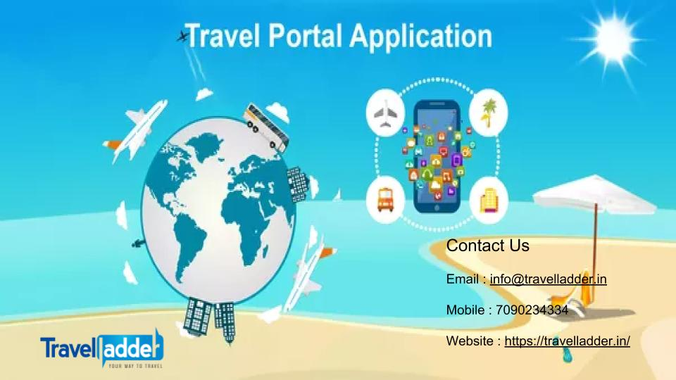 B2B Travel Booking Software For Travel Agent – TRAVELLADDER | Travel