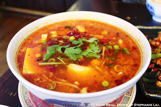 Chungking Braised Fish In Red Soup: white fish with chili oil & peppercorn at Cafe China