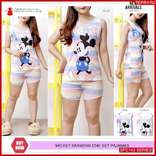 SPC142M62 Mickey Set Singlet Pajamas Baju Tidur Wanita | BMGShop