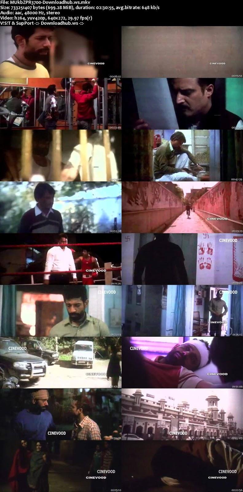 Mukkabaaz 2018 Hindi 700MB Pre-DVDRip x264