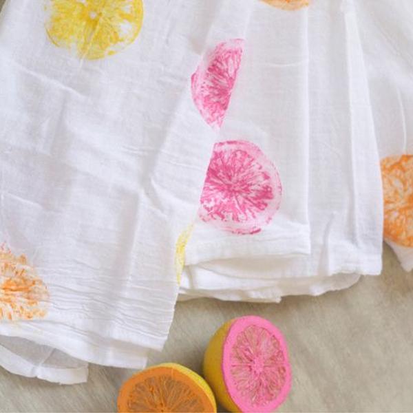 DIY – mantel estampado con limones, limas y naranjas ¿te atreves?