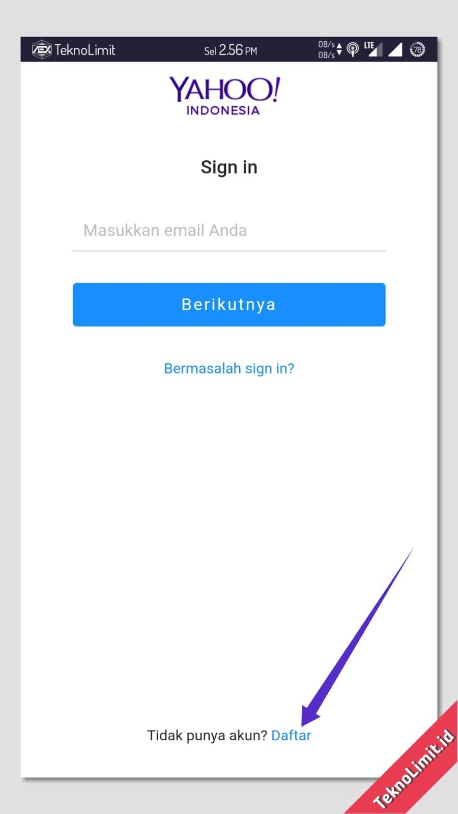 yahoo mail sign up indonesia