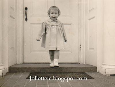 Wendy Slade probably Easter 1953 at Violetta Davis Ryan's house Harrisonburg, VA   http://jollettetc.blogspot.com