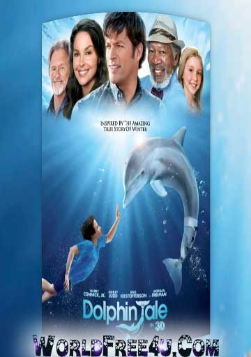 Poster Of Dolphin Tale In Dual Audio Hindi English 300MB Compressed Small Size Pc Movie Free Download Only At worldfree4u.com
